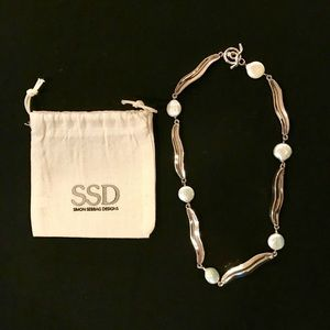 Simon Sebbag Sterling Silver and Pearl Necklace